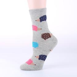 OLN EU36-46 Kawaii Women Hedgeh Animal Socks  Cartoon Socks for Christmas girl Cheap Chaussettes Femme 3(5 pairs / lot )