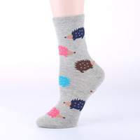 OLN EU36 46 Kawaii Women Hedgeh Animal Socks Cartoon Socks for Christmas girl Cheap Chaussettes Femme 3(5 pairs / lot )