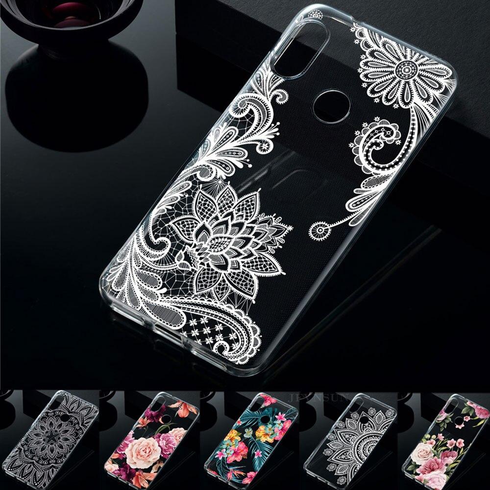 Xiaomi Mi A2 Case On Xiaomi Mi A2 Mia2 Lite Case 3D Relief Flower Pattern Skin Clear TPU Case For Xiaomi Mi A2 Mia2 Lite Cover