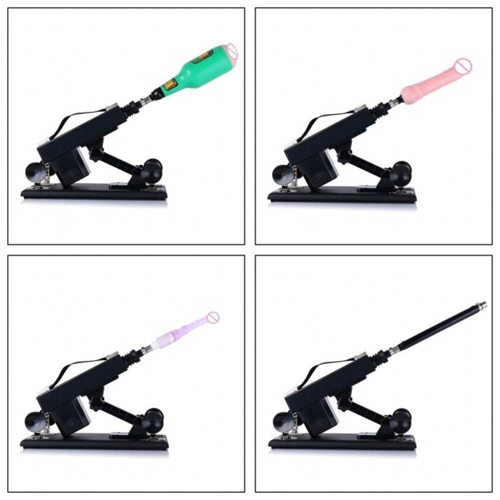 HISMITH New Automatic Retractable Sex Machine Gun with Vagina Cup and Anal Dildo Love Gun Sex Machines for Women and Men in Masturbation Machine from Beauty Health