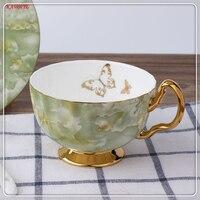 1 세트 세라믹 커피 컵 접시 크리 에이 티브 대리석 패턴 세라믹 우유 컵 손으로 그린 유럽 스타일 커피 컵 5zdz486