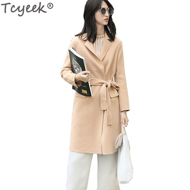 Tcyeek 2017 Women Double Wool Coat 100% Wool Winter Jacket High ...
