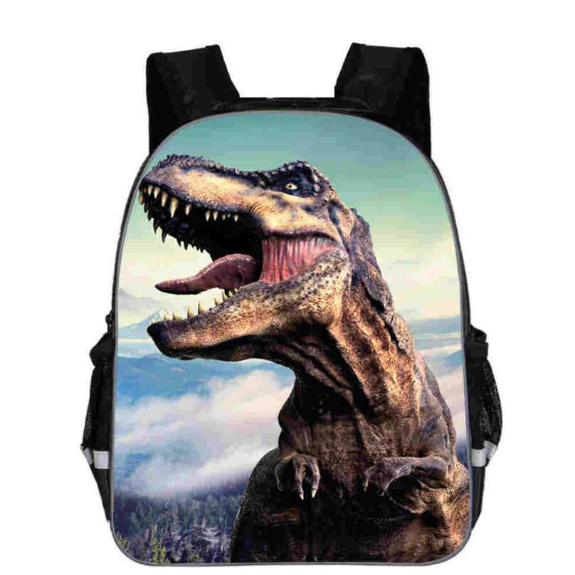 12 14 16 Inches Dinosaur World Backpack Animal Anime Jurassic Dragon School Bags Toddlers Boys Girls Teenager Mochila Gift Bolsa