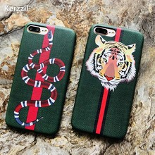 Kerzzil Luxury Snake Tiger Animal Case For iPhone X 10 Soft PU
