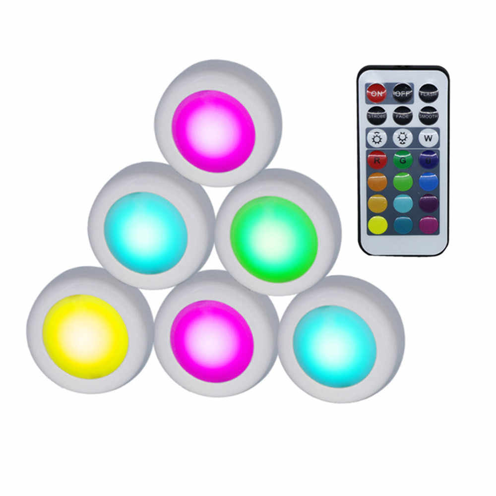 Luces LED de armario RGB 12 colores Sensor táctil regulable con lámpara nocturna inalámbrica remota para armario escalera pasillo