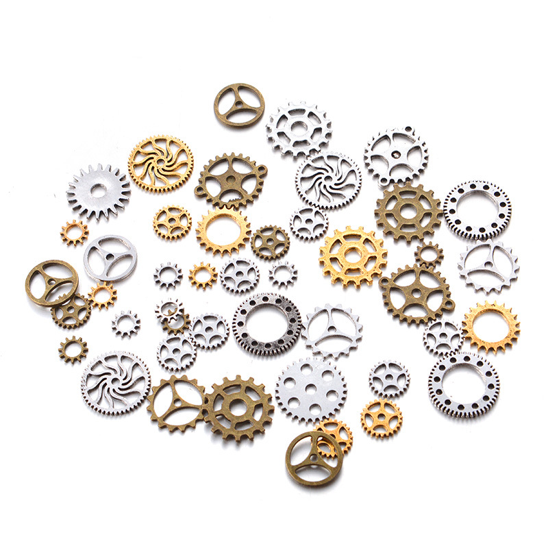 Wholesales 50g Mechanical Gear Steampunk Retro DIY Handmade Alloy Jewelry Accessories