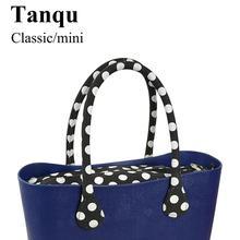 TANQU Short Long Round Flora Canvas Fabric Handle with Insert Lining for Obag Classic Mini O Bag Womens Bags Shoulder Handbag