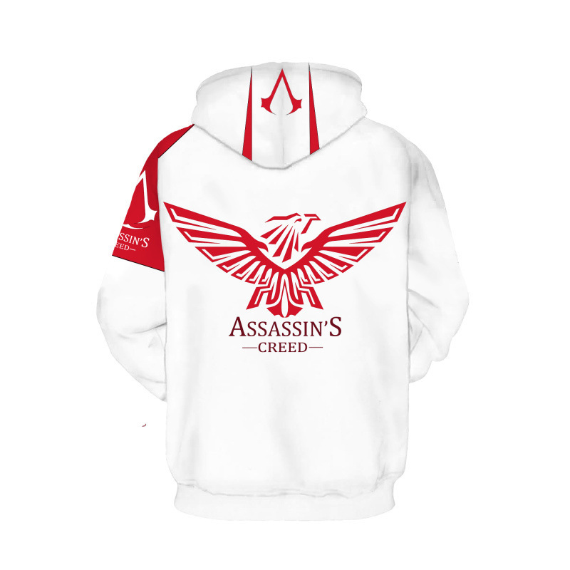 Sword god domain animation peripheral clothing 3D game spring and autumn fashion loose-fitting hoodie hoodie