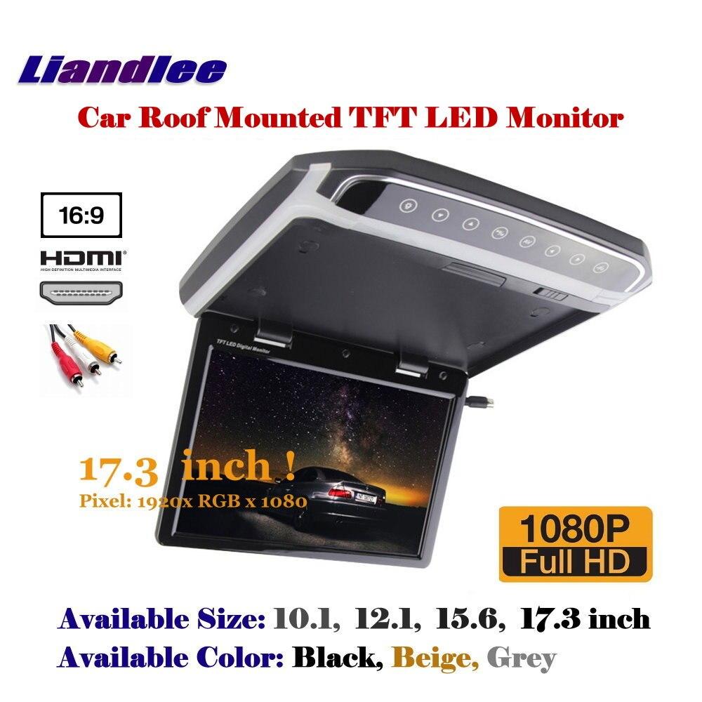 17,3 дюймов 1080P HD крыше автомобиля установлен монитор/потолочный TFT светодио дный Экран/флип вниз Дисплей/MP5 плеер цифровой Цвет ТВ