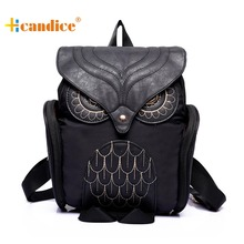 Splendid New Original Travel Women Leather Owl Backpack Female Mujer Mochila Escolar Feminina School Bag 4 Colors