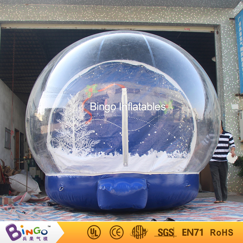Christmas Inflatable Snow Globes Ball for Events, Inflatable Snow Show Ball for Store Display, 4m Snow Globes For Advertising 3m diameter empty inflatable snow ball for advertisement christmas decorations giant inflatable snow globe