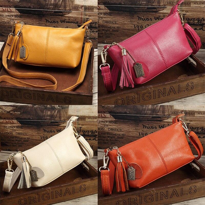 Leather Handbags Factory Direct Shoulder Messenger Portable Small Square Bag 2019 Spring New Leather Tassel Handbags Wholesale