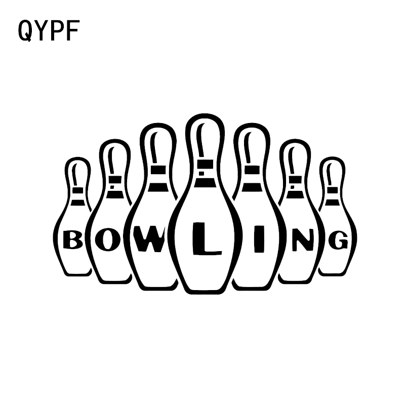 QYPF 14.4*8.6CM Bowling Game Sport Leisure Player Vinyl Car Sticker C16-1301