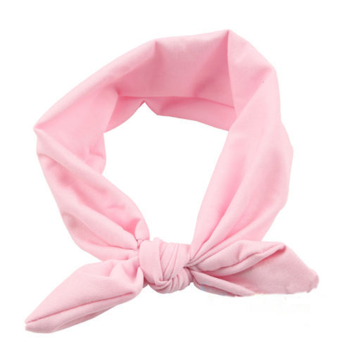 1 PC Solid Color Bow Hairband Kids Turban Knot Rabbit Headwear Girls Hair Accessories 8 colors for your choose 1 pc women fashion elastic stretch plain rabbit bow style hair band headband turban hairband hair accessories