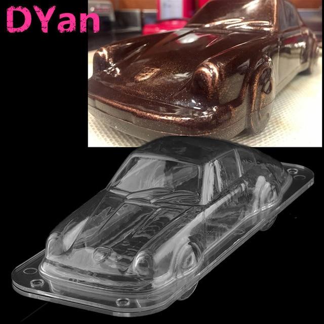 Plastic Automobile Chocolate Mold 3d Diy Sport Car Cake Candy Mold