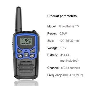 Image 3 - 2 pz/lotto GoodTalkie T5 Palmare Wookie Talkie viaggi zaino in spalla walkie talkie 5km Portatile A Due Vie Radio