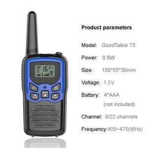 Image 3 - 2pcs/lot GoodTalkie T5 Handheld Wookie Talkie travel backpacker walkie talkie 5km Portable Two Way Radio