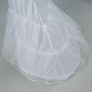 Image 5 - JaneVini 2018 White Tulle Underskirt Bustle Petticots Bride Mermaid Crinoline Net Petticoat Wedding Accessories Jupon 3 Cerceaux