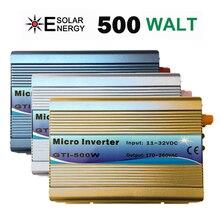 Сетки галстук инвертора 500 W стекируемые DC11-32V Вход AC230V со слежением за максимальной точкой мощности синусоида микро-инвертор подходит для 82 V Панели солнечные/24 V Батарея