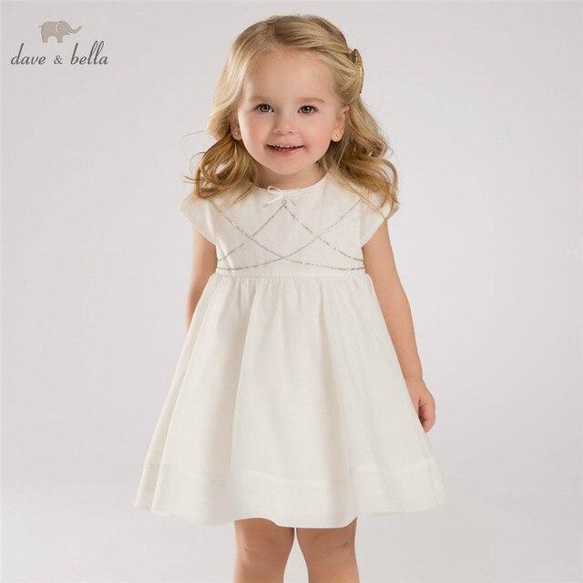 44e5e771e DB3416 ديف بيلا الصيف طفلة الأميرة اللباس طفل فستان الزفاف عيد ميلاد  الاطفال الملابس اللباس
