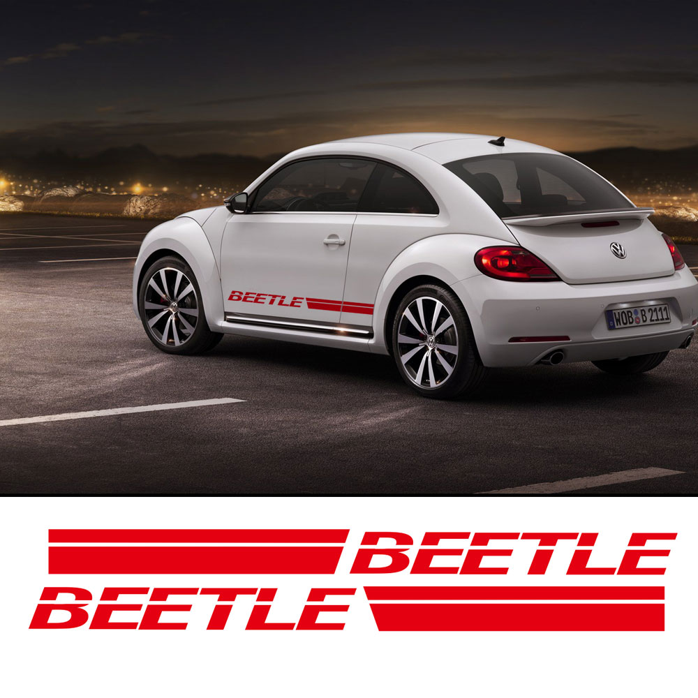 For vw beetle for volkswagen beetle car body sticker customizable motorsports door side stripe stickers decal