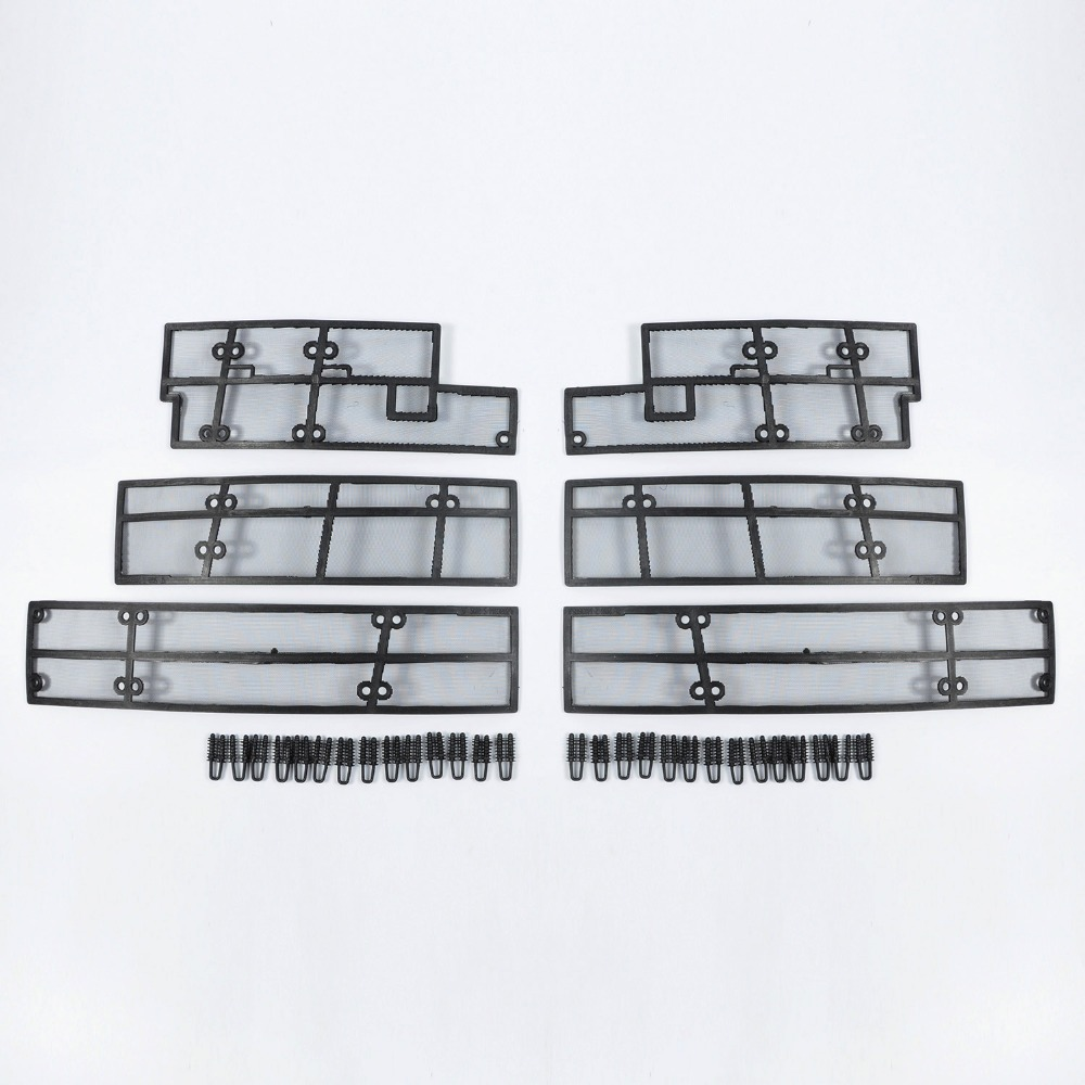 Wtfs Stainless Steel ABS Insect Grille Mesh Grill Inserts Insect Net Insect Proof Net for Toyota