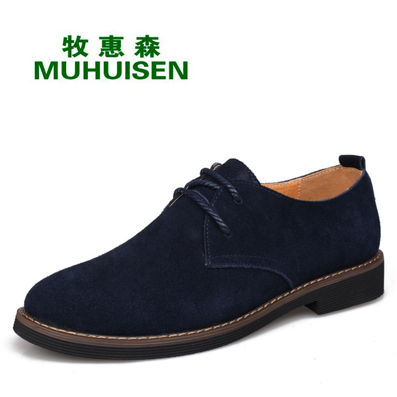 Genuine Leather Men Oxfords Shoes Lace Up Casual Shoes Low Top Dress Shoes British Style Male Shoes Flats Moccasines XK052311 relikey brand men casual handmade shoes cow suede male oxfords spring high quality genuine leather flats classics dress shoes