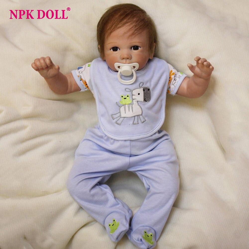 50 cm Boneca bébé renaître Silicone Vinly vivant Bebe poupées américaines bébés poupées pour enfants cadeau d'anniversaire Brinquedos