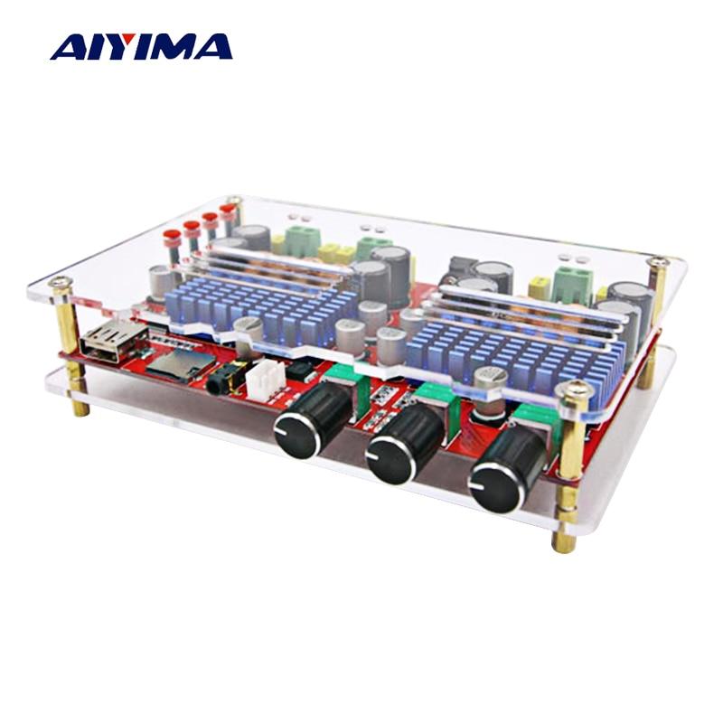 Aiyima TDA3116 Bluetooth Digital Amplifier Board 2*60W+100W 2.1 Channel High Power Bluetooth Audio Amplifier Board With Case