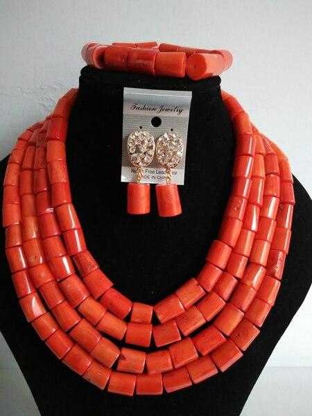 Chunky Arancione Perla Collana di Corallo Set Nigieran ABF549 Cerimonia Nuziale Africana Branelli di Corallo Dei Monili Set Spedizione GratuitaChunky Arancione Perla Collana di Corallo Set Nigieran ABF549 Cerimonia Nuziale Africana Branelli di Corallo Dei Monili Set Spedizione Gratuita