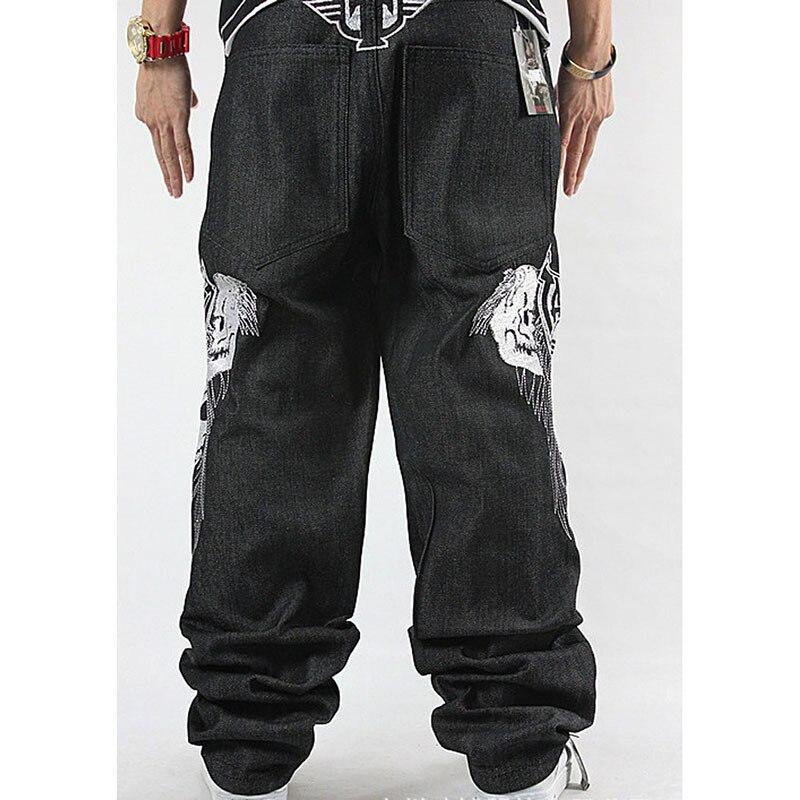 Lose Jeans-Schädel-Stickerei-Hip-Hop-Rap der Männer - Herrenbekleidung - Foto 2