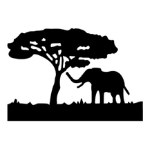 DIY Boom Olifant Patroon Carbon Staal Craft Sterft Metalen Stansmessen Stencil Scrapbooking Craft Cut Foto Kaarten Sterft(China)