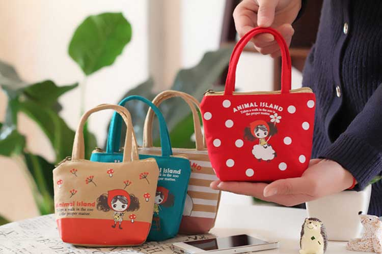 XYDYY New cute Beautiful girl canvas coin purses zipper zero wallet child change purse Mini Phone Headset Fashion lady coin bag