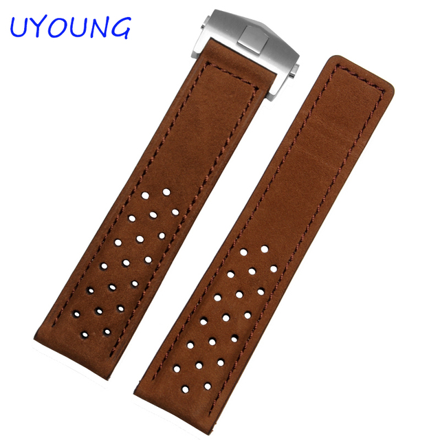 High Quality Genuine Leather Watchband 22mm New Pattern Scrub Strap Brown Watch Accessories Strap Bracelet