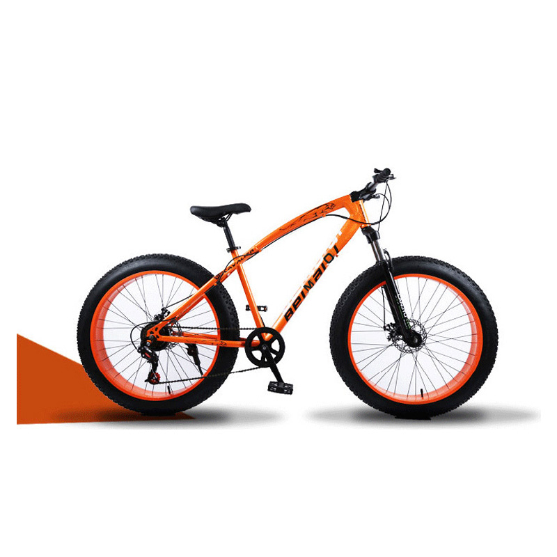 Snow Mountain Bicycle 24 Inch 24 Speed High Carbon Steel Frame Double Disc Brake Off-Road Variable Speed Beach Bike title=