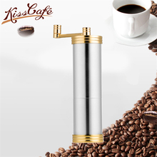 Stainless Hand-cranked Espresso Coffee Grinder Portable Washable Beans Powder Ceramic Grinding Accessories