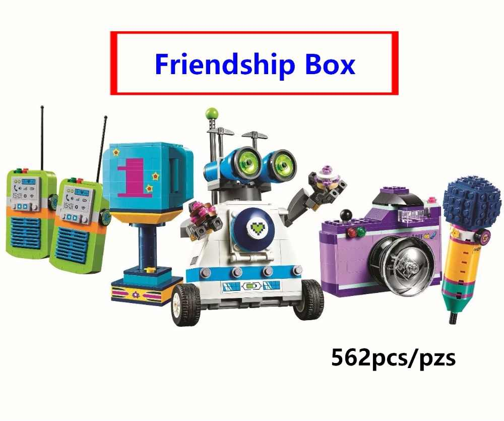 New Princess Friendship Box Robot WALL E Building Blocks for Girl Kids Model Kit Compatible with Lego Friends 41346 Toys Gift