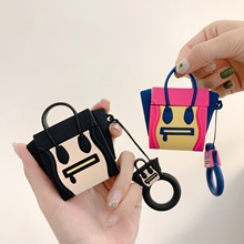 For AirPods Case Silicone Cute 3D Handbag Earphone Case For Airpods 2 Headphone Case for Apple Air pods Cover Earpods Ring Strap
