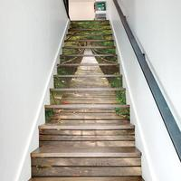 13pcs DIY Waterproof Stairs Stickers Creative Landscape Wall Floor Pasters Wall Decor Decals Sticker for Home Living Room Decor