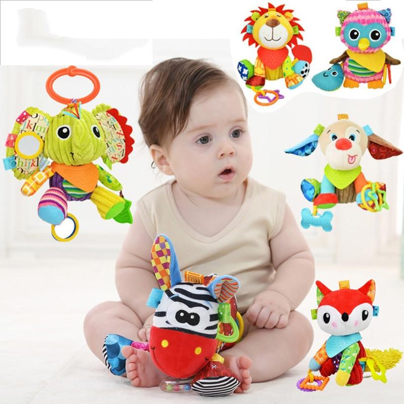 Állati bébi harang kéz fogása oktatási játékokkal csecsemő - Csecsemőjátékok
