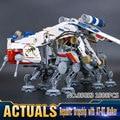 2017 Nueva LEPIN 05053 1788 Unids Star Wars República Dropship Con AT-OT Walker Modelo Kit de Construcción de Ladrillos de Juguete Bloques 10195