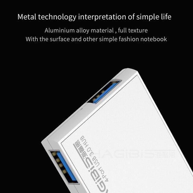 Hagibis 180 Degree Rotation USB 3.0 HUB Super Speed External 4 Port Usb Splitter Port for Macbook Air Laptop PC Computer Usb Hub USB Hubs