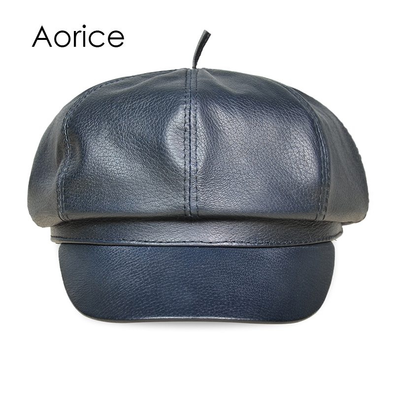 HL017 Aorice Free shipping genuine sheep leather man's Newsb