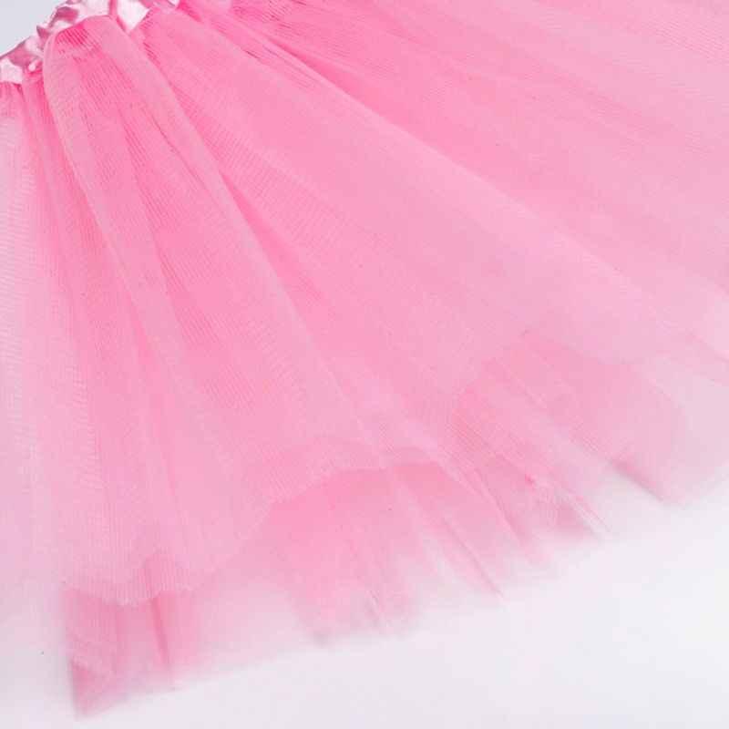 חדש לילדים ילדים ילדה שלוש שכבות בלט ריקוד טוטו חצאית קלאסי מוצק צבע מיני קפלים חצאיות אלסטי מסיבת תחתונית