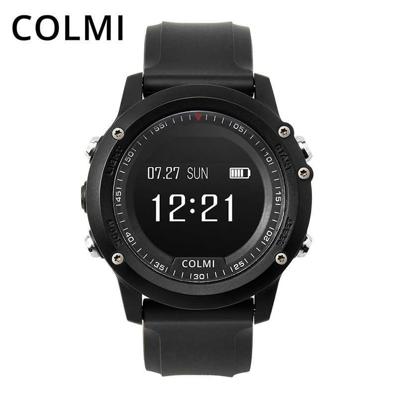 цены COLMI T2 IP68 Waterproof Heart Rate Monitor Push Message Call Reminder Clock Bluetooth 4.0 Brim Men Sport Smart Watch