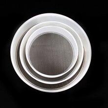 """1Pc13/16/20 cm Plástico Redondo 0.5 """"de Malla Fina de Harina Tamiz Tamizado Tamizado Tamiz Colador De Cocina herramienta"""