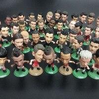 ?0pcs/lot Q series soccer football game PVC figures several different styles random mixed