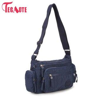 75958c0d1 Bolso de mensajero de nailon para mujer, bolsos de hombro, bolsos de moda para  mujer, bolsos escolares de 11 colores, bolsas Sac A Main 954