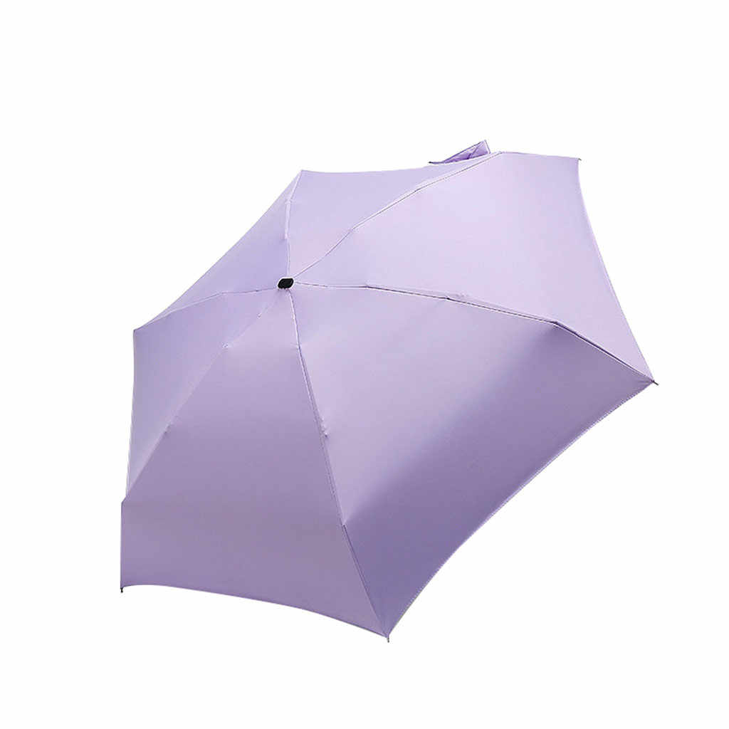 Damen Regenschirm Windfest Faltbar Anti UV Sun Compact Mini Reise Parasol Mode