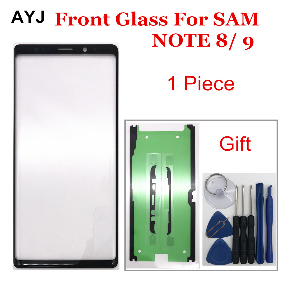 1 Piece Replacement Outer Glass For Samsung Galaxy Note 8 9 N950  6.3'' LCD Touch Screen Front Glass Cover Lens + Adhesive Tools